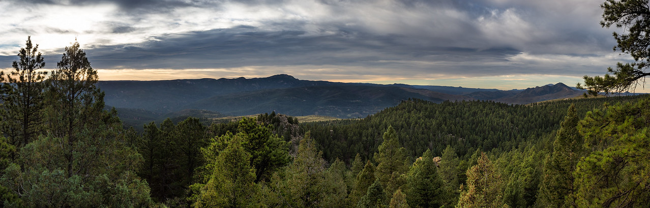 Morning Panoramic from Pike National Forest