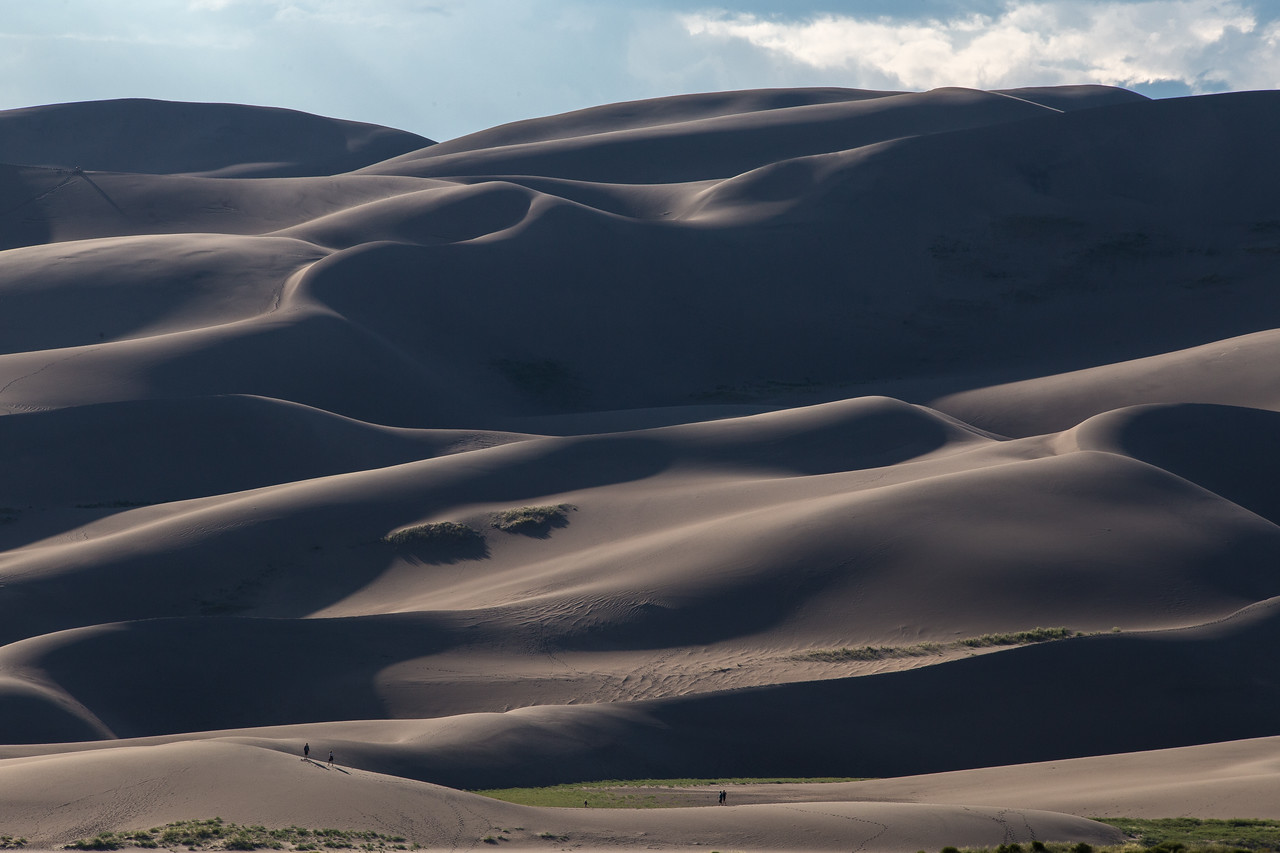 Great Sand Dunes National Park nearing sunset.