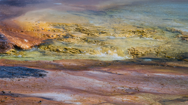 Grand Prismatic Textures, Yellowstone