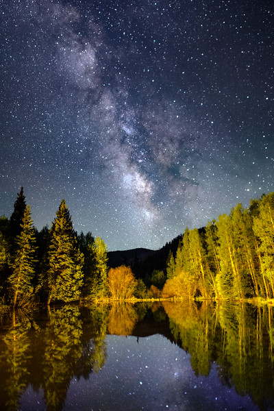 Milky Way Over a Fish Pond