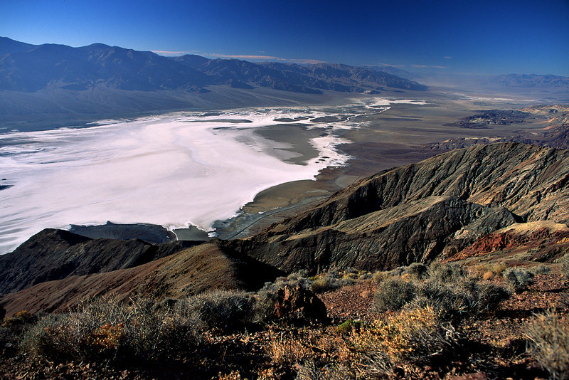 Dante's View affords a wide panorama of Death Valley.