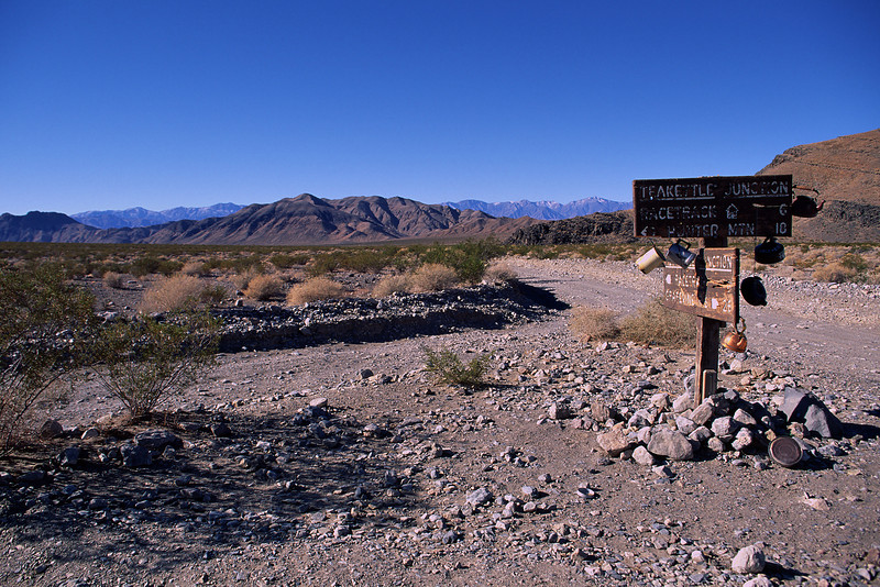 Teakettle Junction is a remote crossroads in the NW part of the NP.