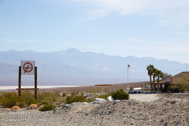 SE view of the Panamint Springs sign, gas station, and restaurant. (3/17/2013, Panamint Springs Resort, Death Valley Trip)<br /> <br /> EF24-105mm f/4L IS USM @ 85mm f/9 1/400s ISO125
