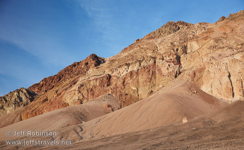 Multiple colors of reds and browns in the mountains under deep blue sky.(3/17/2013, Artists Drive Loop, Death Valley NP)<br /> <br /> EF24-105mm f/4L IS USM @ 50mm f/5.6 1/160s ISO200