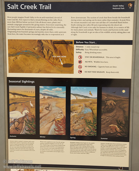Salt Creek Trail sign. (3/19/2013, Salt Creek Trail, Death Valley NP)<br /> EF24-105mm f/4L IS USM @ 45mm f/8 1/160s ISO100