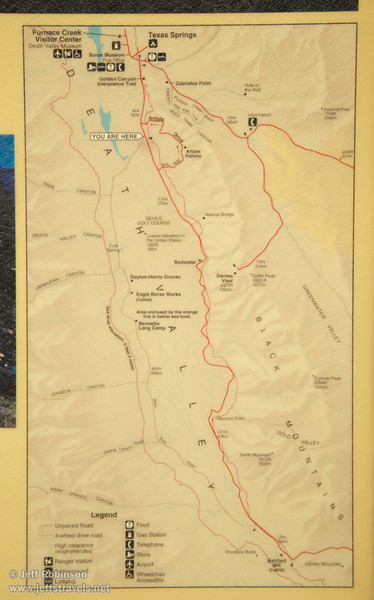 "Map from ""West Side Road"" sign. (3/19/2013, West Side Road, Death Valley NP)<br /> EF24-105mm f/4L IS USM @ 50mm f/8 1/160s ISO200"
