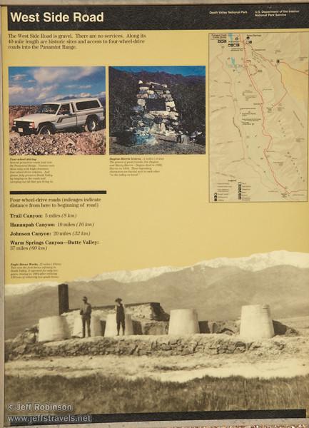 """West Side Road"" sign. (3/19/2013, West Side Road, Death Valley NP)<br /> EF24-105mm f/4L IS USM @ 40mm f/8 1/160s ISO200"