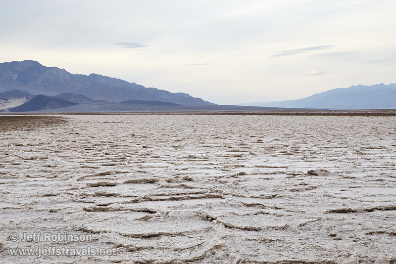 Southerly view view of the large patterns in the salt pan with mountains in the distance. (3/19/2013, West Side Road, Death Valley NP)<br /> EF24-105mm f/4L IS USM @ 65mm f/11 1/125s ISO400