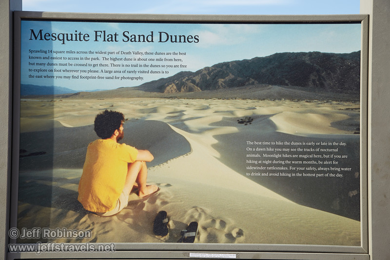 """Mesquite Flat Sand Dunes"" sign. (3/19/2013, Mesquite Flat Sand Dunes, Death Valley NP)<br /> EF24-105mm f/4L IS USM @ 65mm f/6.3 1/160s ISO100"