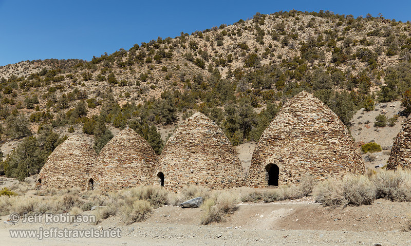 The left 4 charcoal kilns. Each beehive-shaped kiln is about 25 feet high. (3/19/2013, Charcoal Kilns, Wildrose Canyon, Death Valley NP)<br /> EF24-105mm f/4L IS USM @ 35mm f/8 1/320s ISO100