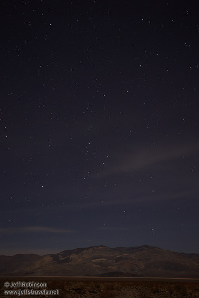 NE view of the stars (including the Big Dipper) over the Panamint Valley and Panamint Range. Moonlight from a roughly quarter moon illuminates the valley. (3/19/2013, star shots from Panamint Springs, Death Valley NP)<br /> EF16-35mm f/2.8L II USM @ 26mm f/2.8 30s ISO400