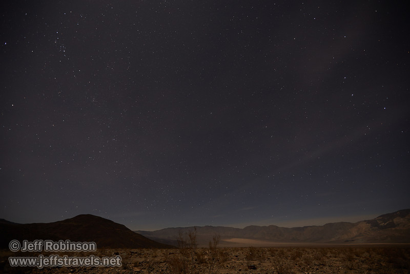 Northerly view of the stars (including the Big Dipper) over the Panamint Valley and Panamint Range. Moonlight from a roughly quarter moon illuminates the valley. (3/19/2013, star shots from Panamint Springs, Death Valley NP)<br /> EF16-35mm f/2.8L II USM @ 16mm f/2.8 30s ISO800