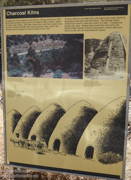 Sign about the charcoal kilns. (3/19/2013, Charcoal Kilns, Wildrose Canyon, Death Valley NP)<br /> EF24-105mm f/4L IS USM @ 32mm f/10 1/200s ISO400