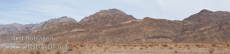 The Grapevine Mountains near the mouth of Titus Canyon, with dust on Titus Canyon Road from someone having just driven on it. (3/20/2013, Titus Canyon Road below Titus Canyon, Death Valley NP)<br /> EF24-105mm f/4L IS USM @ 73mm f/7 1/250s ISO100