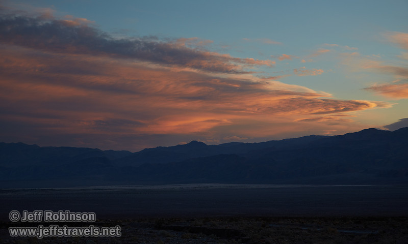 Sunset clouds over the Panamint Range, with the Mesquite Flat Sand Dunes in the valley. (3/20/2013, Titus Canyon, Death Valley NP)<br /> EF24-105mm f/4L IS USM @ 65mm f/5.6 1/80s ISO200