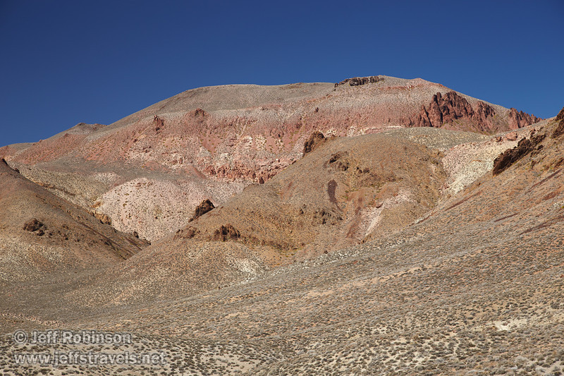 Pale green brush on the foothills lead to yellows and reds in the mountains under deep blue sky. (3/21/2013, Titus Canyon Road, Death Valley NP)<br /> EF24-105mm f/4L IS USM @ 80mm f/7 1/200s ISO200