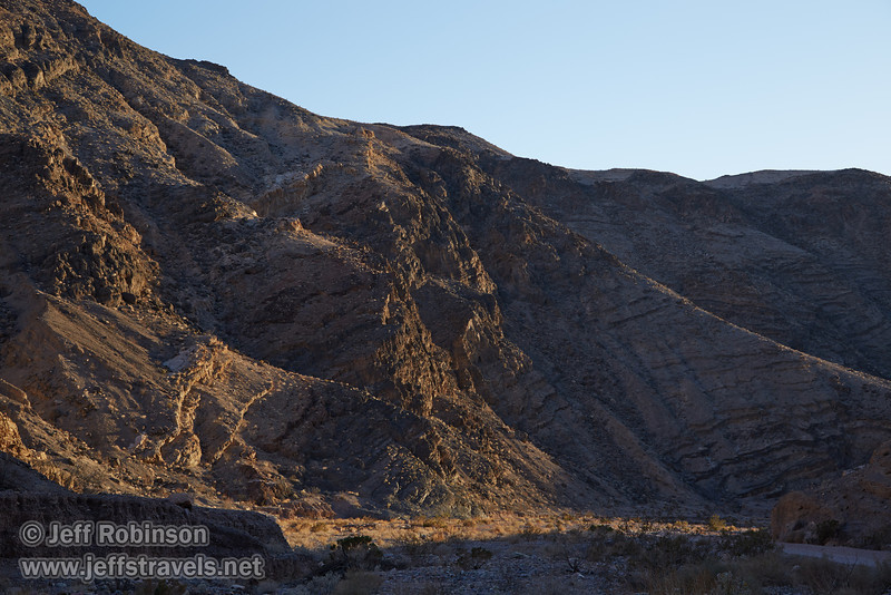 Late sun creates strong shadows on a layered hillside. (3/21/2013, Titus Canyon, Titus Canyon Road, Death Valley NP)<br /> EF24-105mm f/4L IS USM @ 55mm f/7 1/125s ISO100