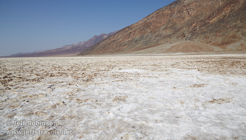 Northerly view of the white salt pan, with the Amargosa Range under blue sky in the background. (3/22/2013, Badwater Basin, Death Valley NP)<br /> EF24-105mm f/4L IS USM @ 24mm f/11 1/200s ISO100
