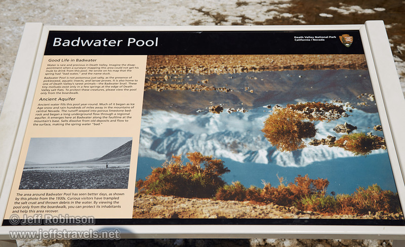 """Badwater Pool"" sign. (3/22/2013, Badwater Basin, Death Valley NP)<br /> EF24-105mm f/4L IS USM @ 40mm f/9 1/250s ISO100"