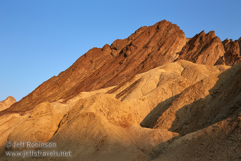 Yellowish colors in the nearer canyon are offset by the reds and browns of the rock layers of the farther wall pointing to the sky. (3/22/2013, Golden Canyon, Death Valley NP)<br /> EF24-105mm f/4L IS USM @ 40mm f/9 1/200s ISO200