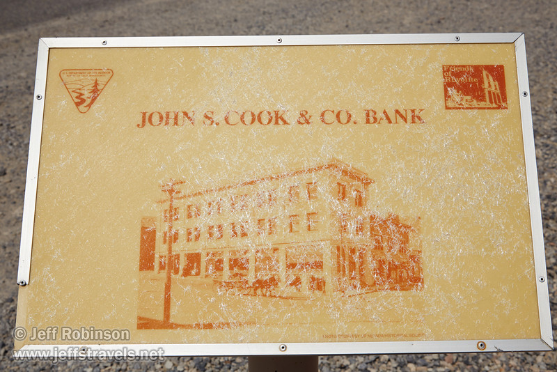Faded sign identifying the John S. Cook & Co. Bank. (3/22/2013, Rhyolite (ghost town), Death Valley trip)<br /> EF24-105mm f/4L IS USM @ 55mm f/14 1/640s ISO200