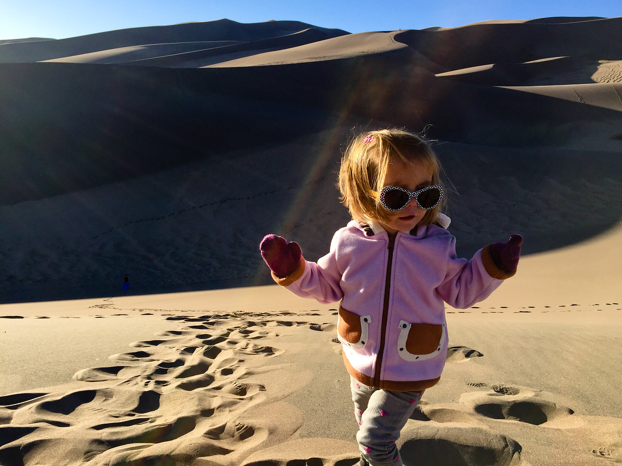 We had fun at the Sand Dunes on our way to Durango. <br /> Fall Break 2016<br /> Celia was 3 years and 2 months old<br /> Evan was 6 years and 4 months old<br /> Colorado