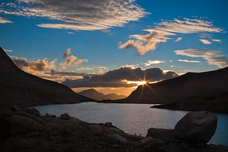 Sunset at Darwin Lakes