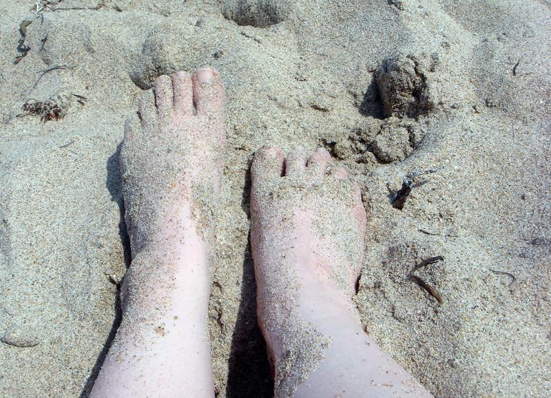 Sandy feet!