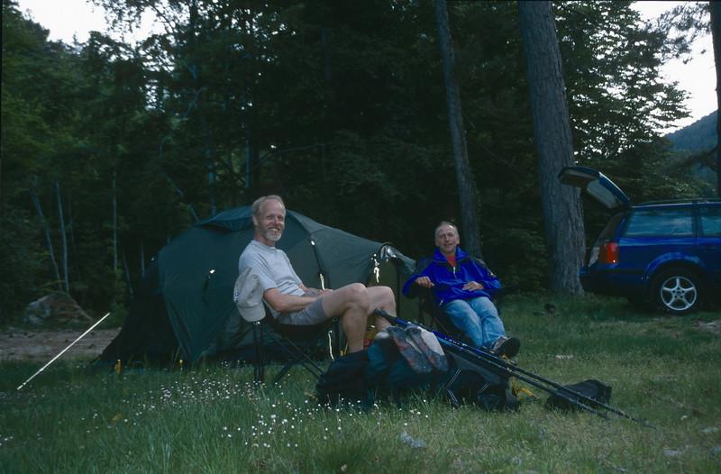 Campground in the forest near Vizzavona
