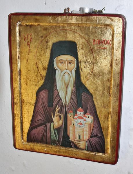 Icon, Greek Orthodox Church beneath Agios Dionysios Monastery   (not Agios Nikolas Monastery)