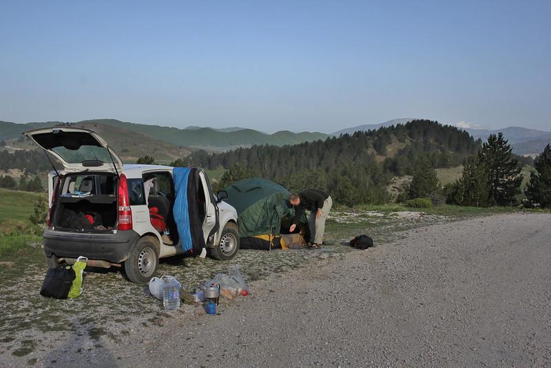 Camp, beneath the Katara Pass 1690m, N of Metsovo