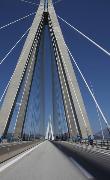 Bridge between Peloponnese and mainland Greece near Patra