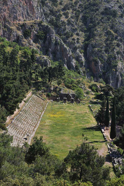 Delphi archeological site, Delphi-Kroki, Above geological site