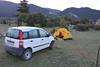 Campsite with 4x4 Panda, Vitina, 40km NW of Tripoli