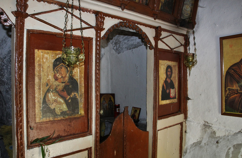 Ancient icon, Greek Orthodox Church beneath Agios Dionysios Monastery