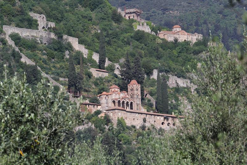 Byzantine site, Mistras, W of Sparti