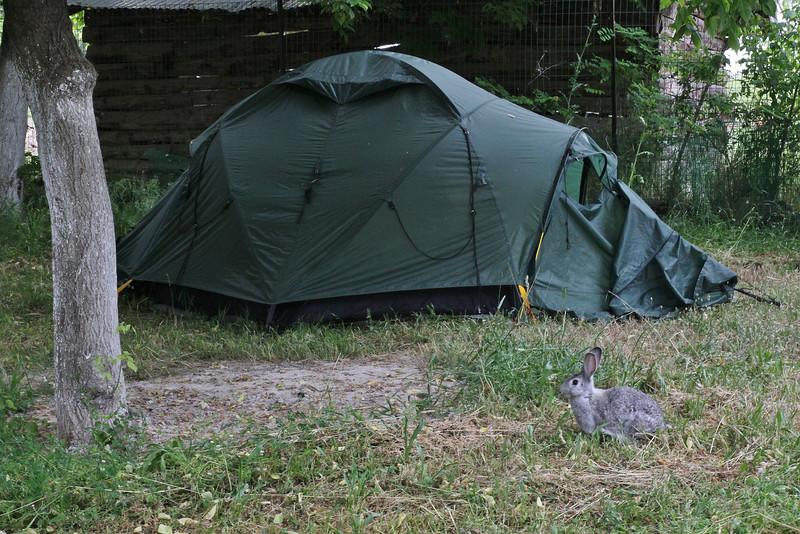 Campground near Karitsa, Gulf of Thessaloniki
