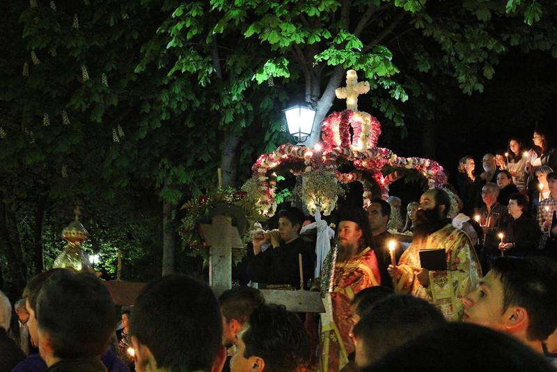 Greek Orthodox procession, Greek Orthodox Eeaster, Metsovo