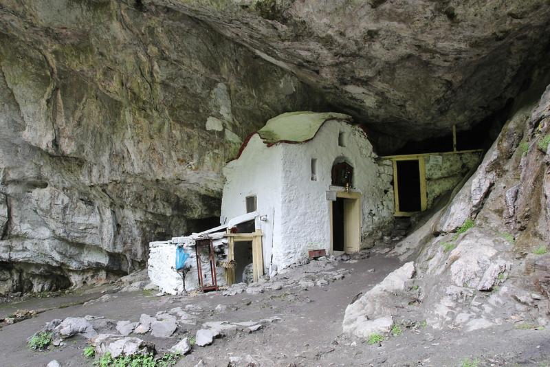 Greek Orthodox Church beneath Agios Dionysios Monastery