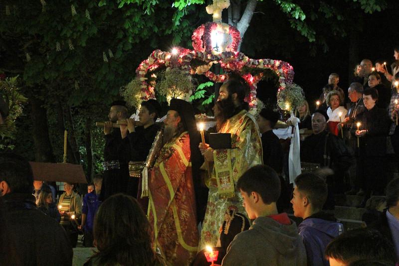 Greek Orthodox Eeaster, Greek Orthodox procession, Metsovo