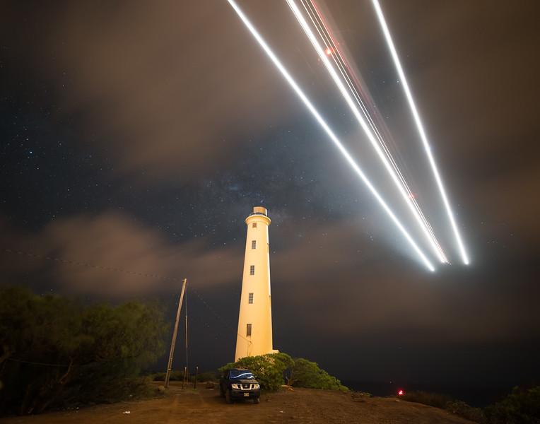Airplane Star Trail