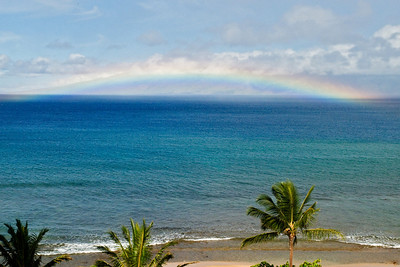 Rainbow over Molokai - Ka'anapali Shores - Maui, HI