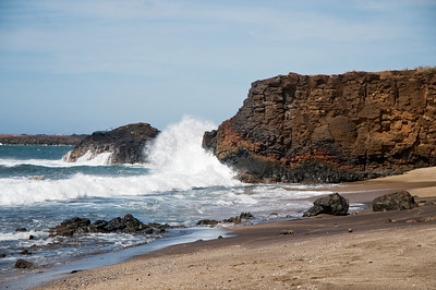 Waves crashing - Glass Beach - Kauai, HI