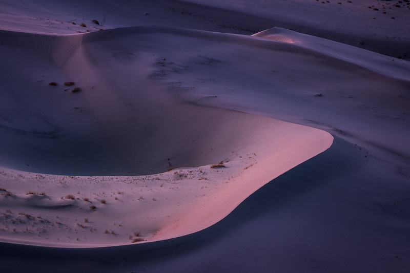 Eureka Dunes at Blue Hour, Death Valley NP