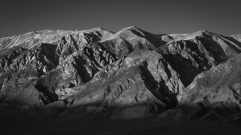 White Mountains at Sunset