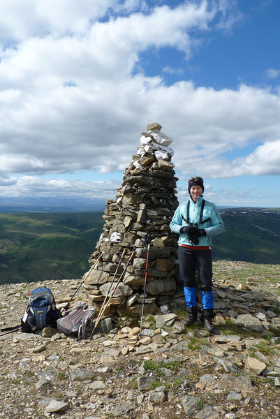 Patti with Mt. Cairn towering above her.
