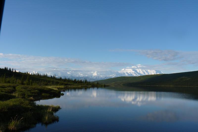 We stop long enough to take a couple of photos at Wonder Lake.