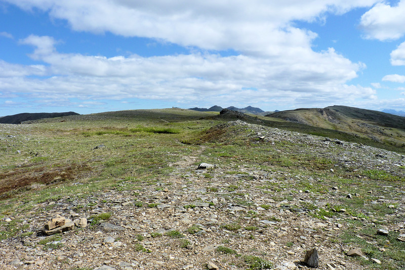 The plan is to walk along the ridge until we feel like stopping for lunch, when we'll drop down a bit out of the wind.