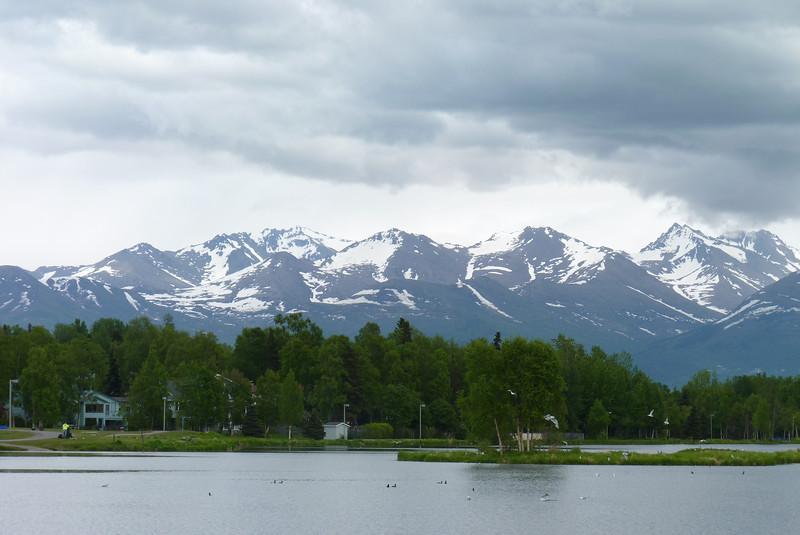 Note the black sky over the mountains -- this will be a major theme of our trip to Alaska.
