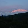 Day 6 - 6/14/2012: It's Jeane's turn to take a sunrise photo of Denali.